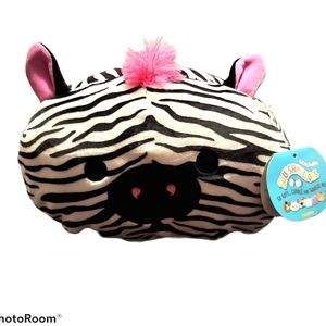 """Squishmallows """"Tracey"""" the stackable zebra, 12"""""""